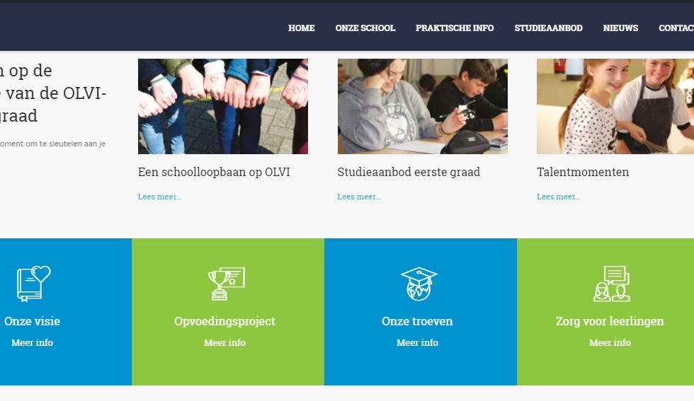 Nieuwe website OLVI Boom